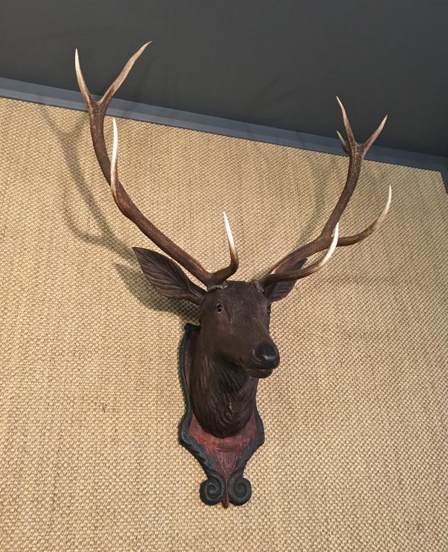 Rayher 46548000-Set di 12 Pezzi in Legno di Abete Testa di Cervo normale Circa 4 cm Decorazione da spargere
